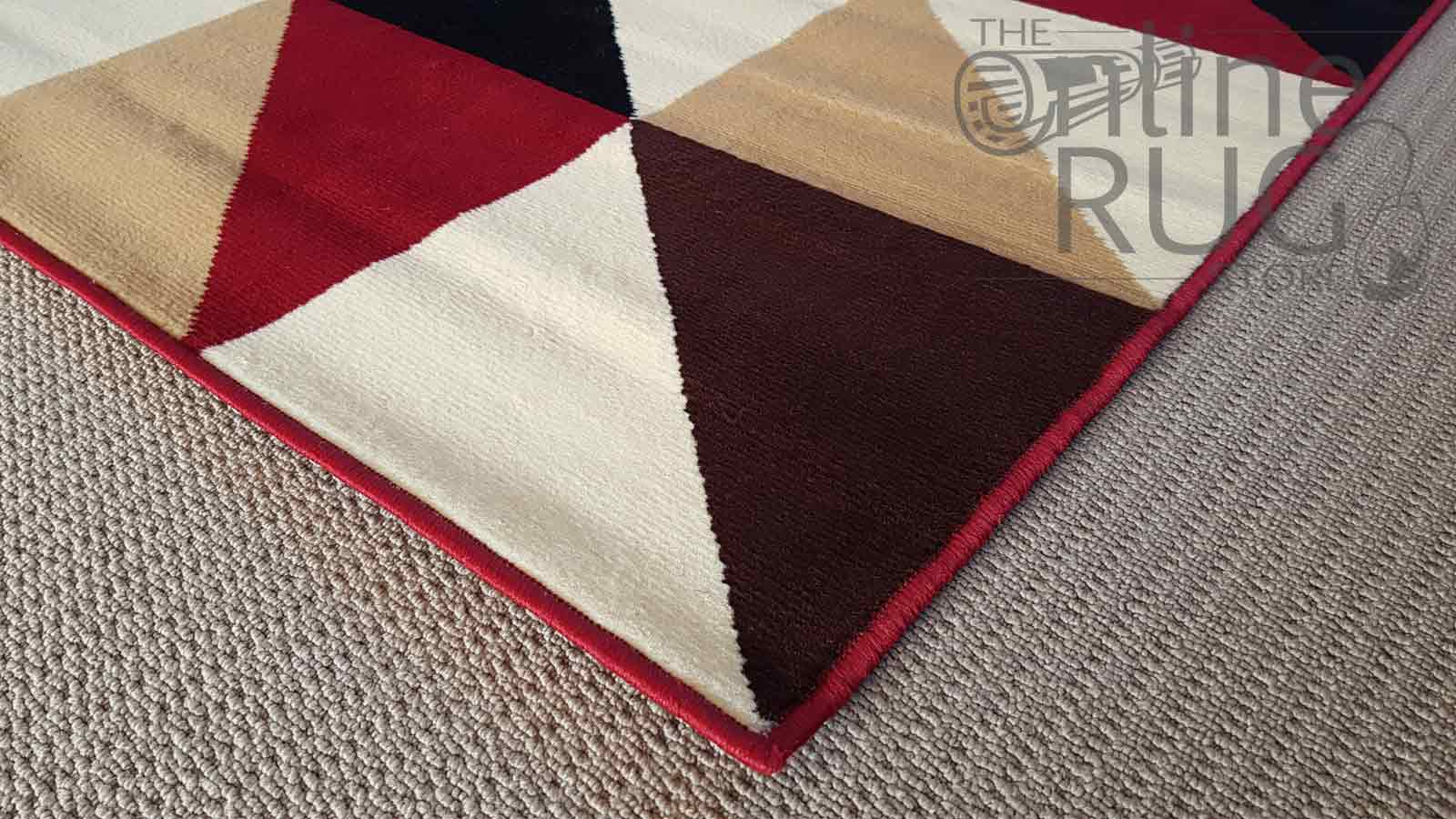Red Bordeaux Geometric Triangle