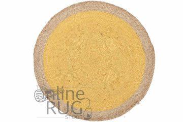 Polo Yellow Jute Round