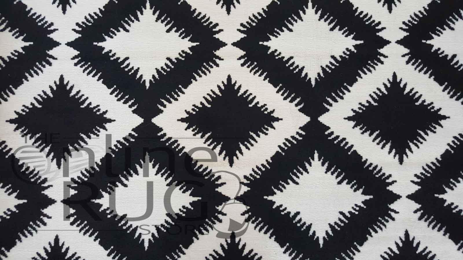 Industry White Black Geometric Diamond