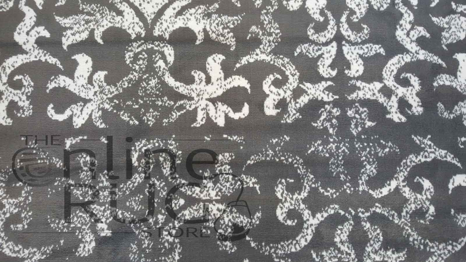 Studious Grey White Classic French Damask