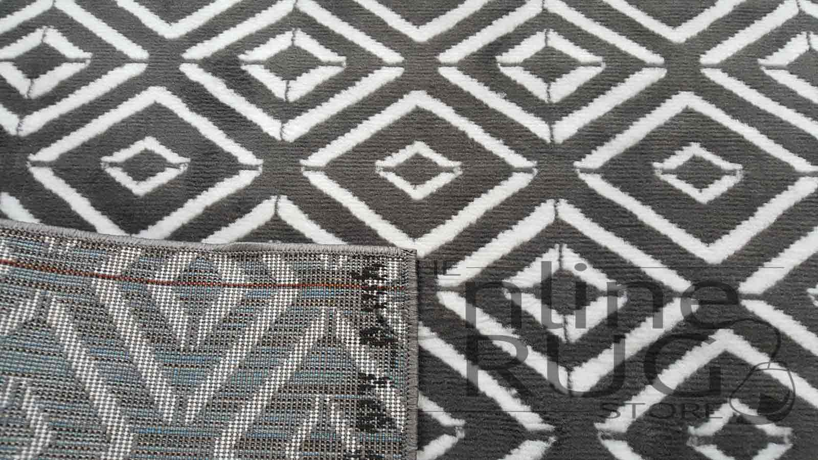 Studious Grey White Geometric Diamond