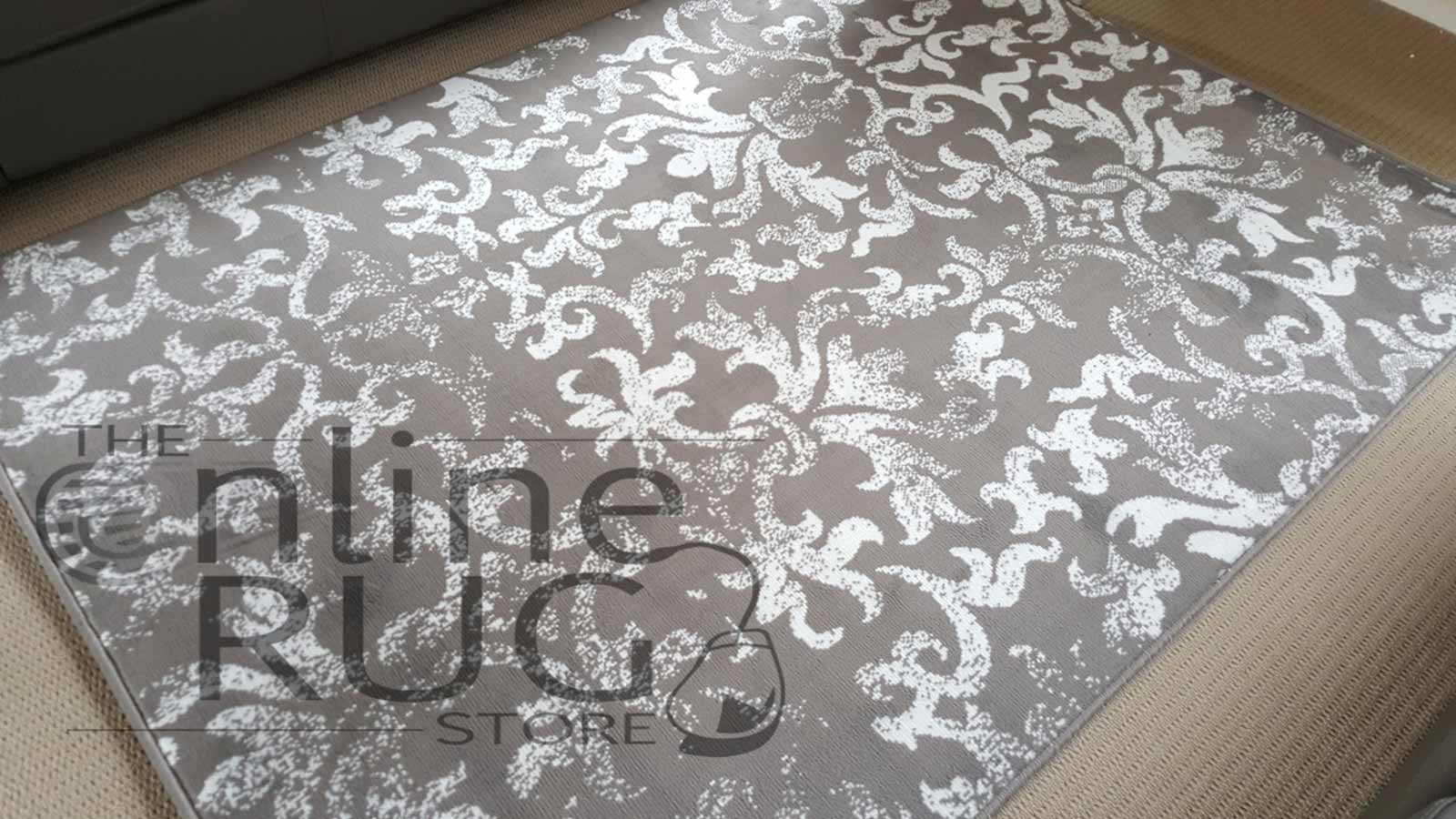 Studious Natural Grey Classic French Damask