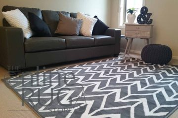 Herringbone Chevron Grey White