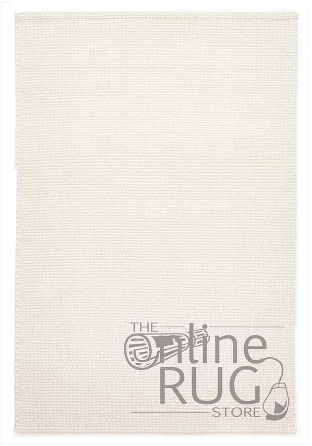 White Scandinavian Felted Wool Rug