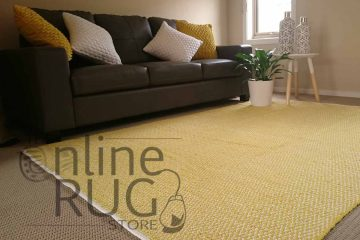 Yellow Dhurrie Flat Weave