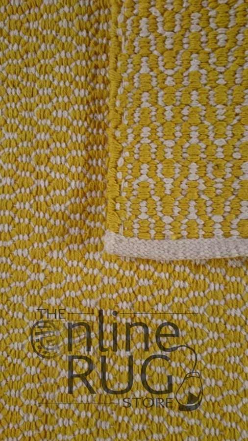 Yellow Dhurrie Flat Weave