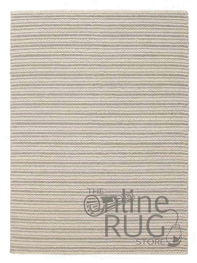 Farrah Grey Braided Hand Woven Wool Flatweave