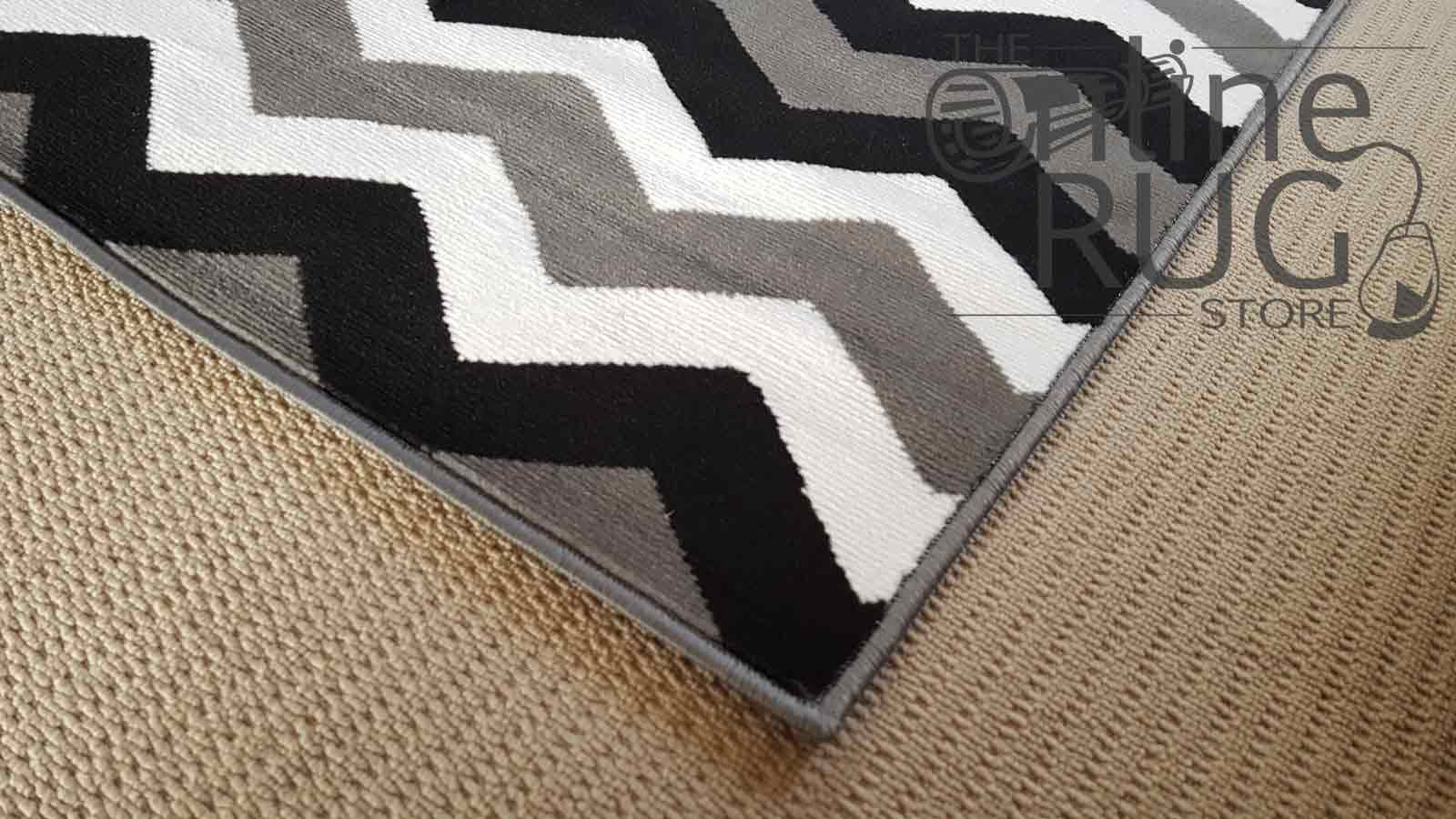 Grey Black Monochrome Chevron