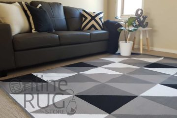 Grey Black White Geometric Triangle