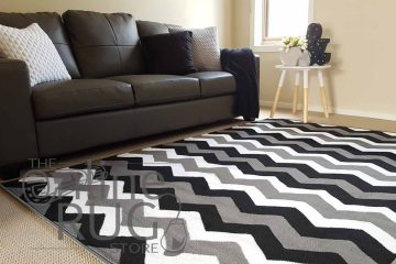 Grey Black Monochrome Chevron
