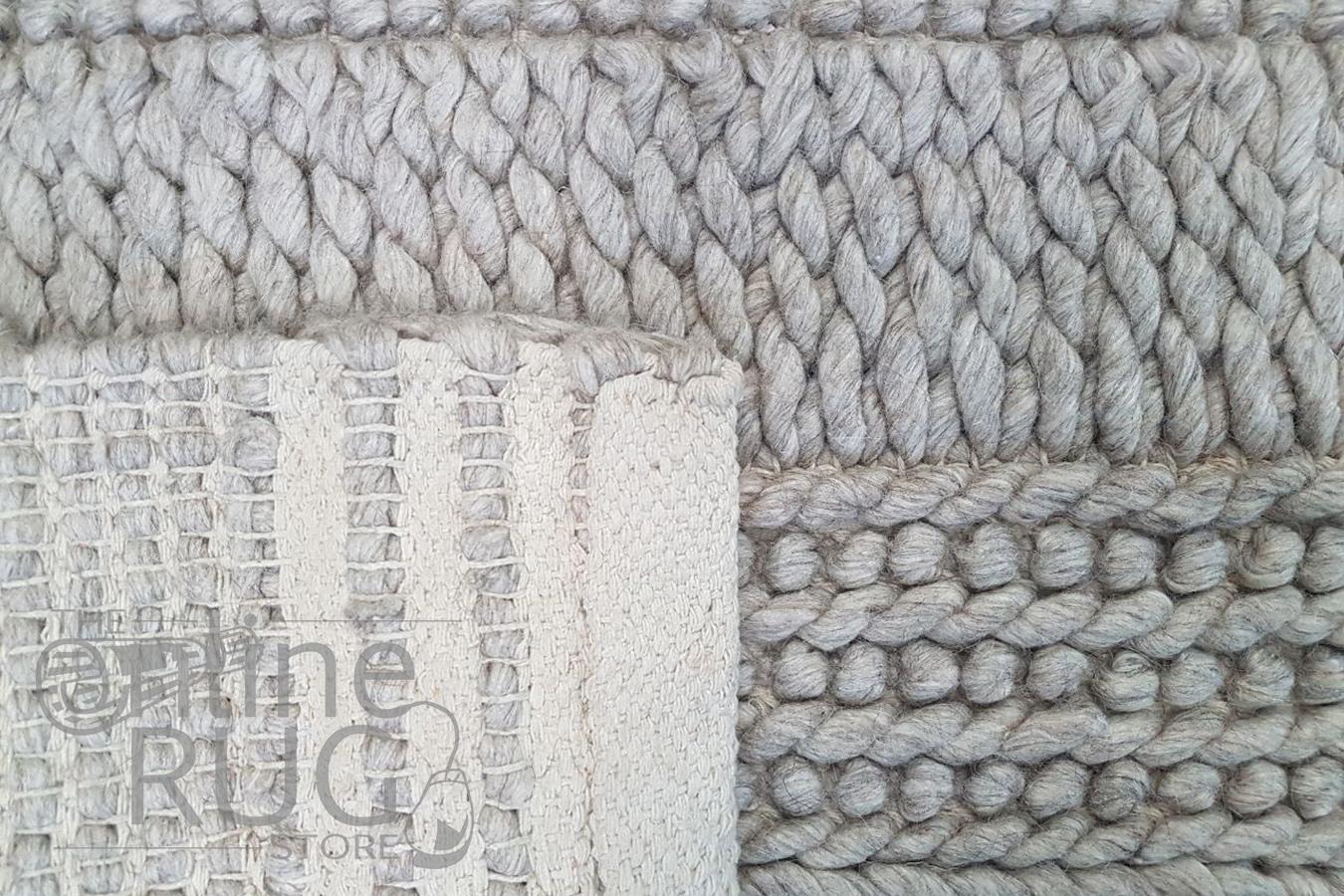 Zara Dark Grey Braided Hand Woven Wool