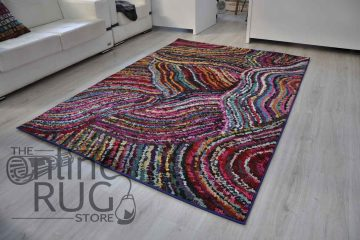 Vibrant Swirl Tribal Rainbow Rug