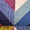 Vibrant Rainbow Geometric Diamond Rug