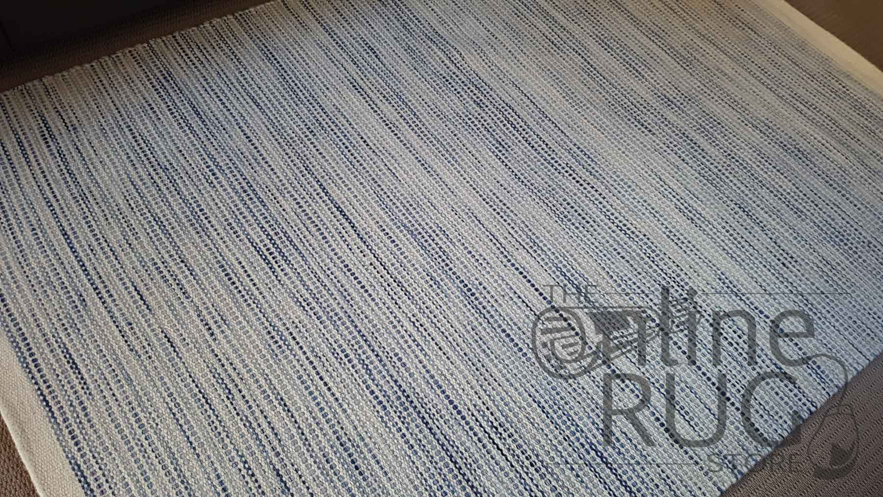 Blue Scandinavian Felted Wool Rug
