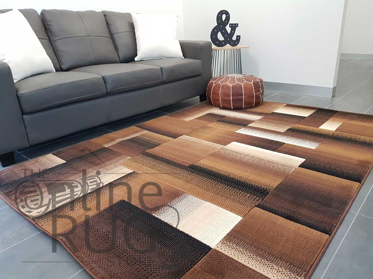 Style Chocolate Brown Geometric Square