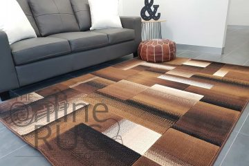 Style Chocolate Brown Geometric Square