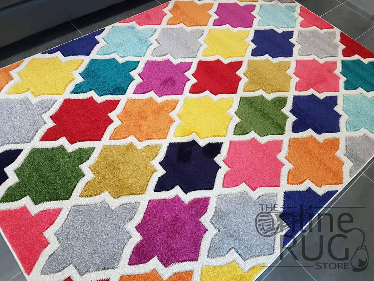 Candy Crush Rainbow Moroccan Lattice