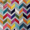 Candy Crush Rainbow Grey Herringbone