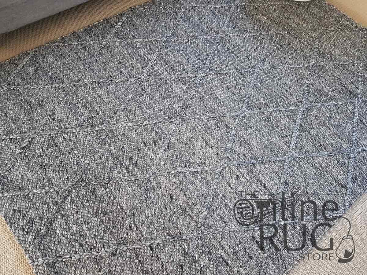 Nordic Diamond Felted Wool Charcoal