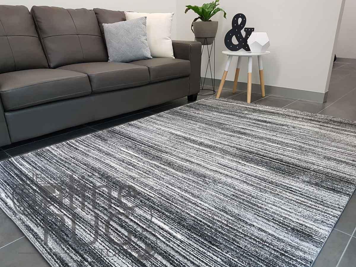 Space Grey White Stripe Lines