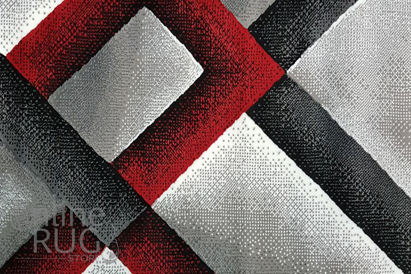 Style Red Grey Abstract Diamond