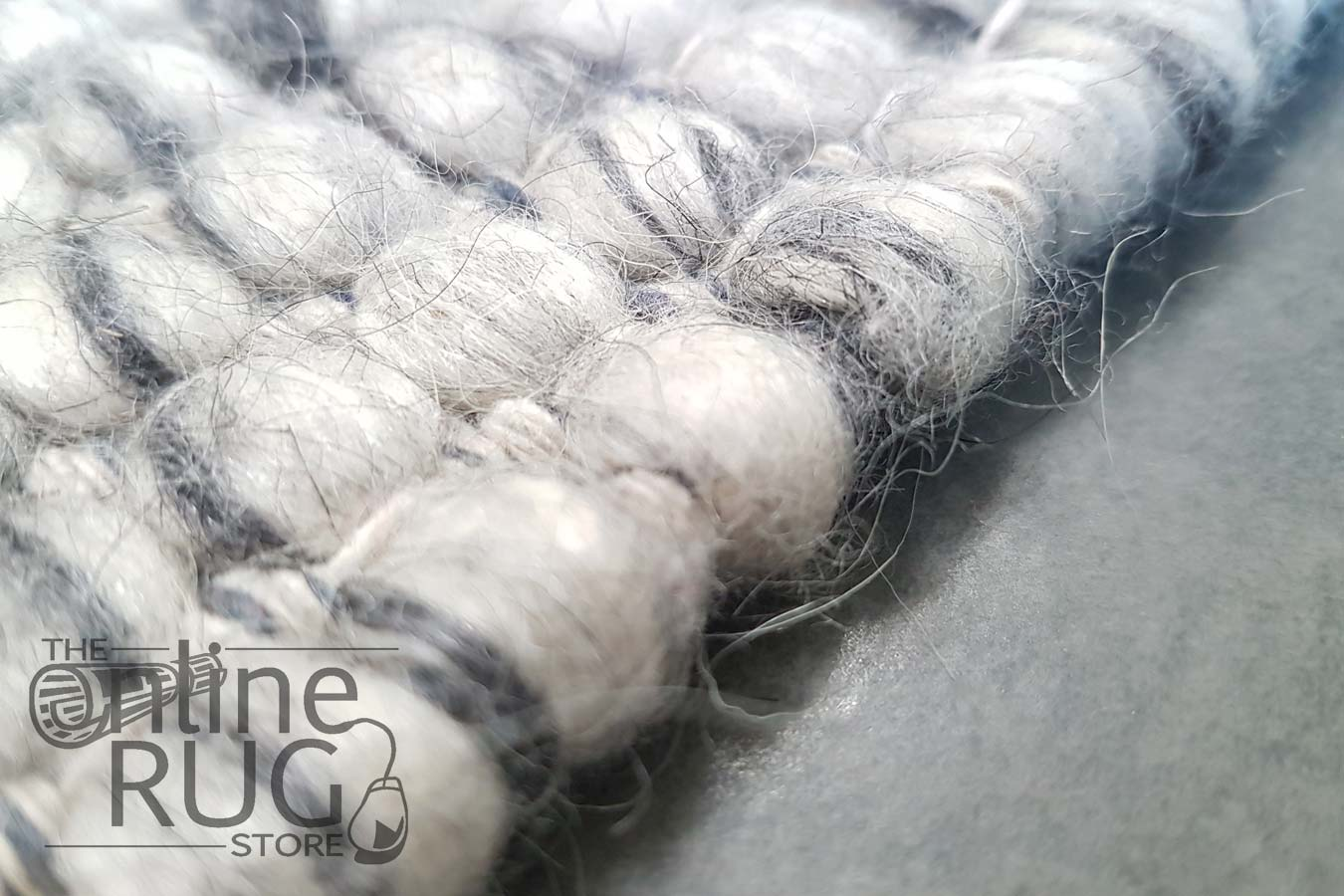 Darcy Grey Felted Wool Rug