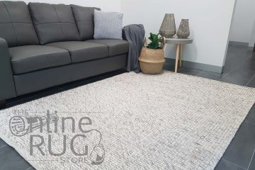 Dasha Light Grey Felted Wool Rug