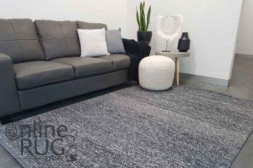 Essence Armani Multi Weave Dark Grey Felted Wool Rug