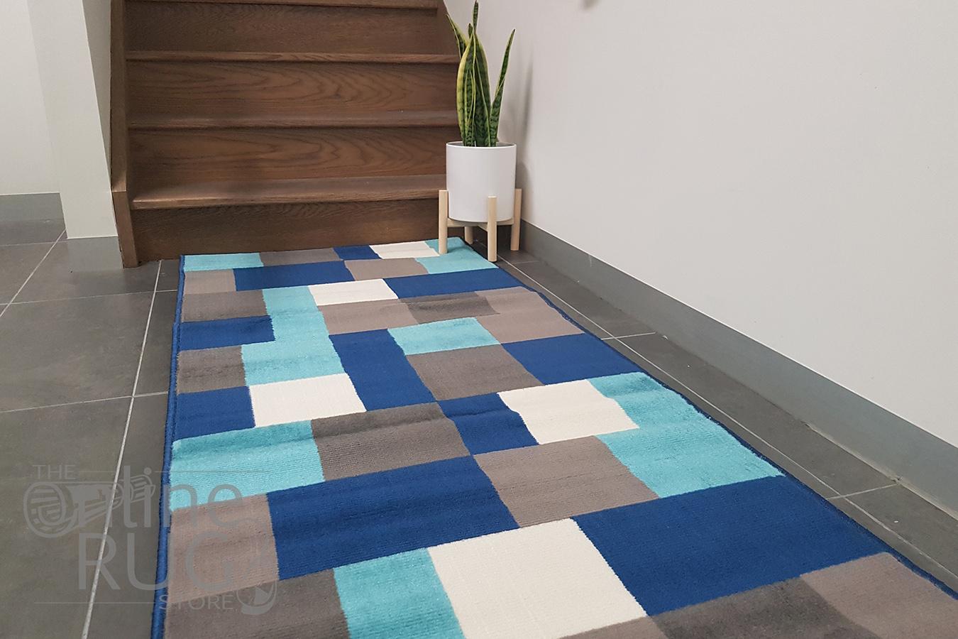 Industry Multicolour Tiles Hallway Runner