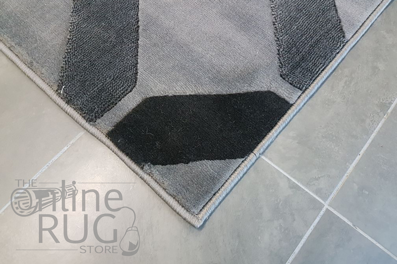 Style Blue Grey Geometric Diamond Tiles