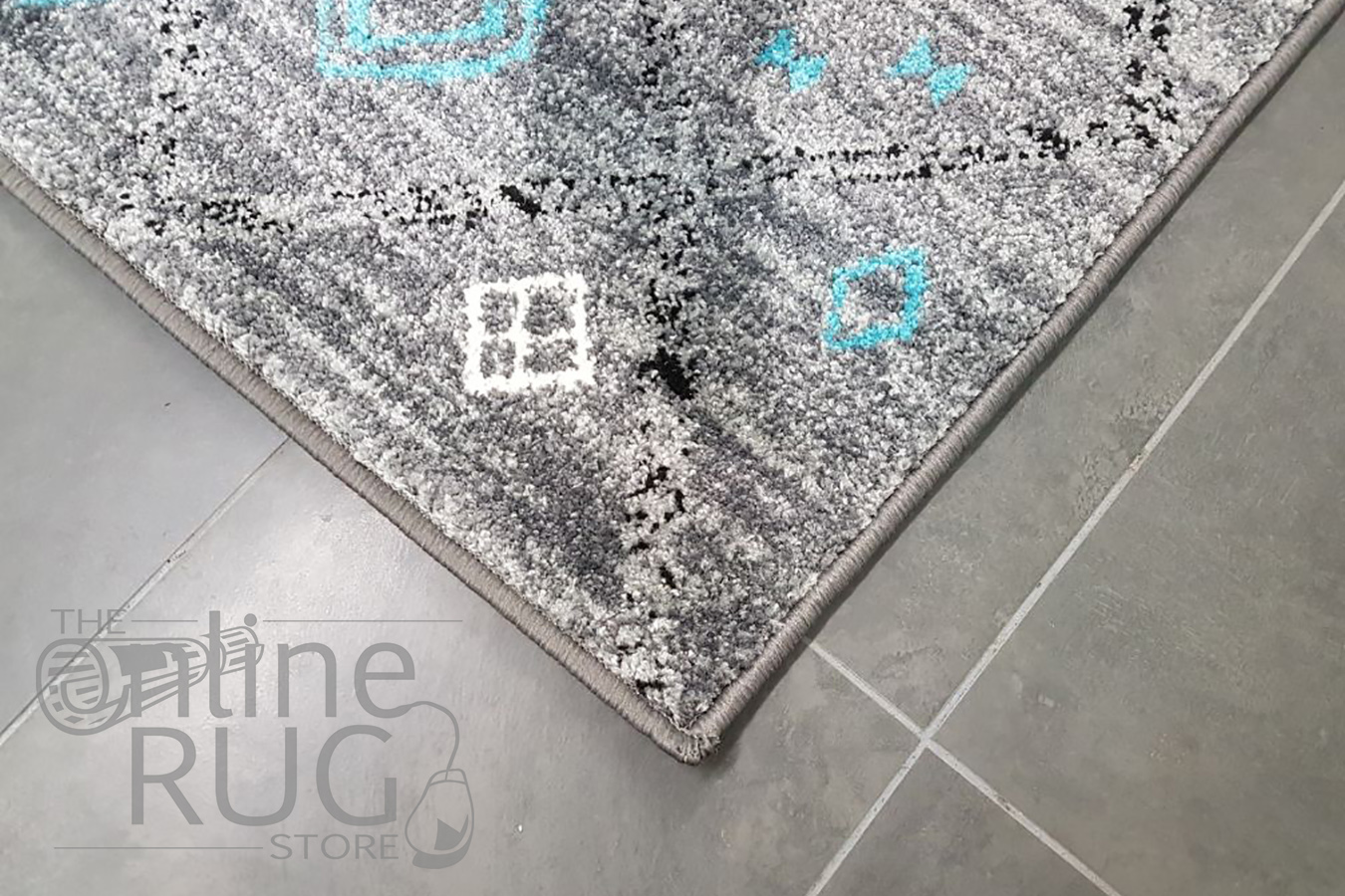 Festival Multicoloured Ethnic Diamonds Rug