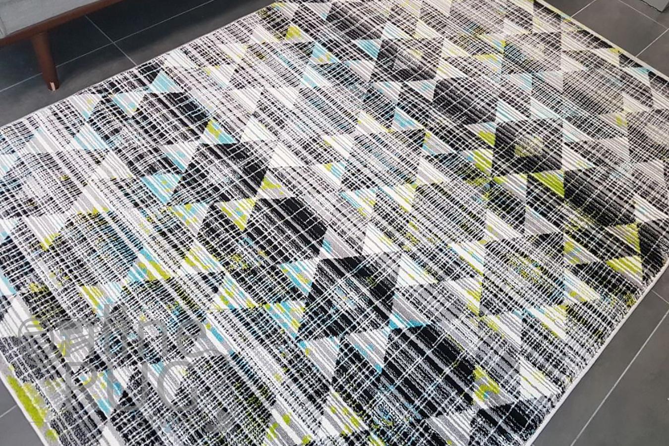 Freedom Multi Colour Geometric Diamond Pattern Rug