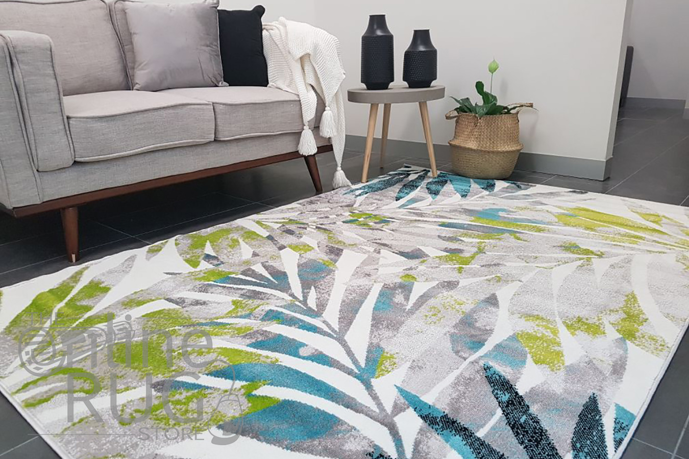 Freedom Multi Colour Tropical Pattern Rug (1)