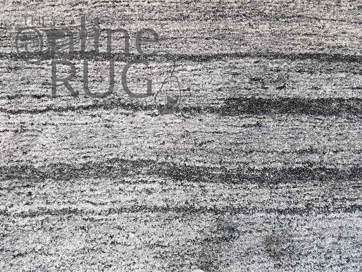 Hunter Plush Charcoal Stripes Rug