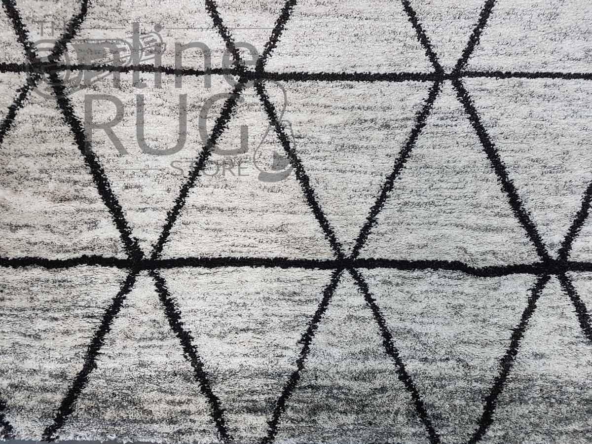 Hunter Plush Grey Tribal Rug