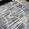 Austine Grey Blue Abstract Lines Scales Pattern Rug