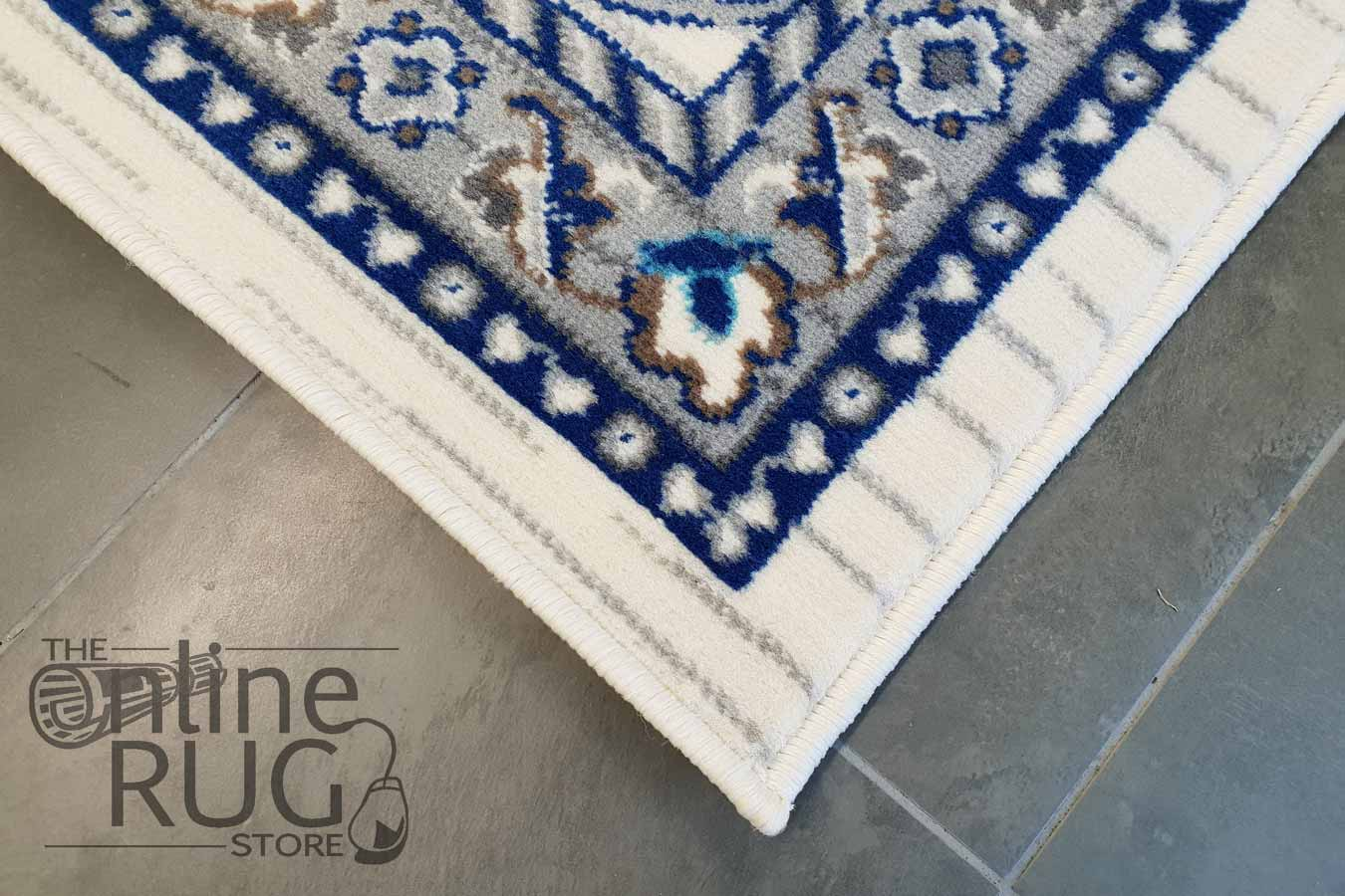 Austine Off White Blue Transitional Rug
