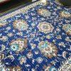 Austine Navy Blue Transitional Oriental Pattern Rug