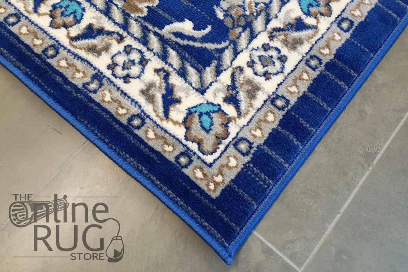 Austine Navy Blue Transitional Oriental Rug