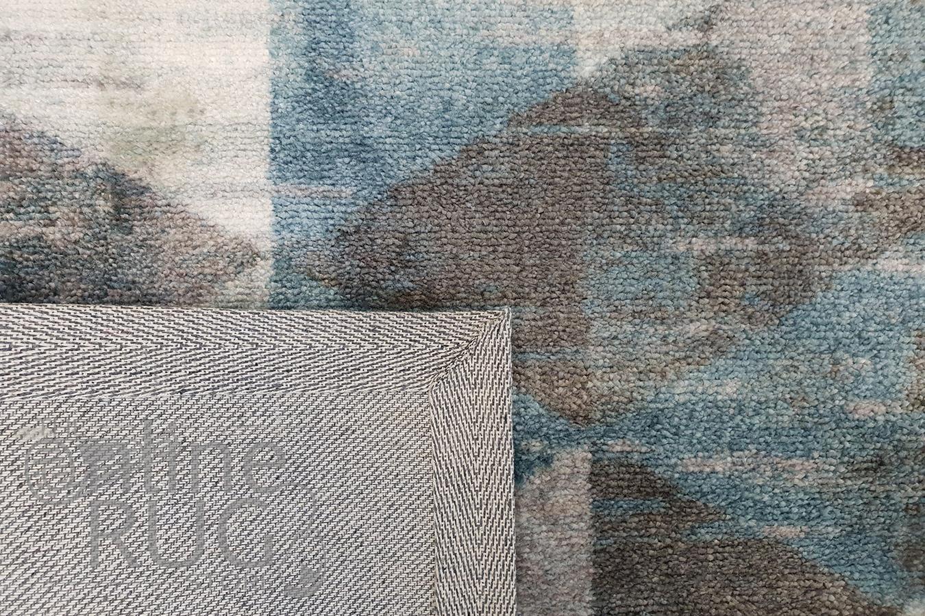 Metro Blue Geometric Diamond Rug