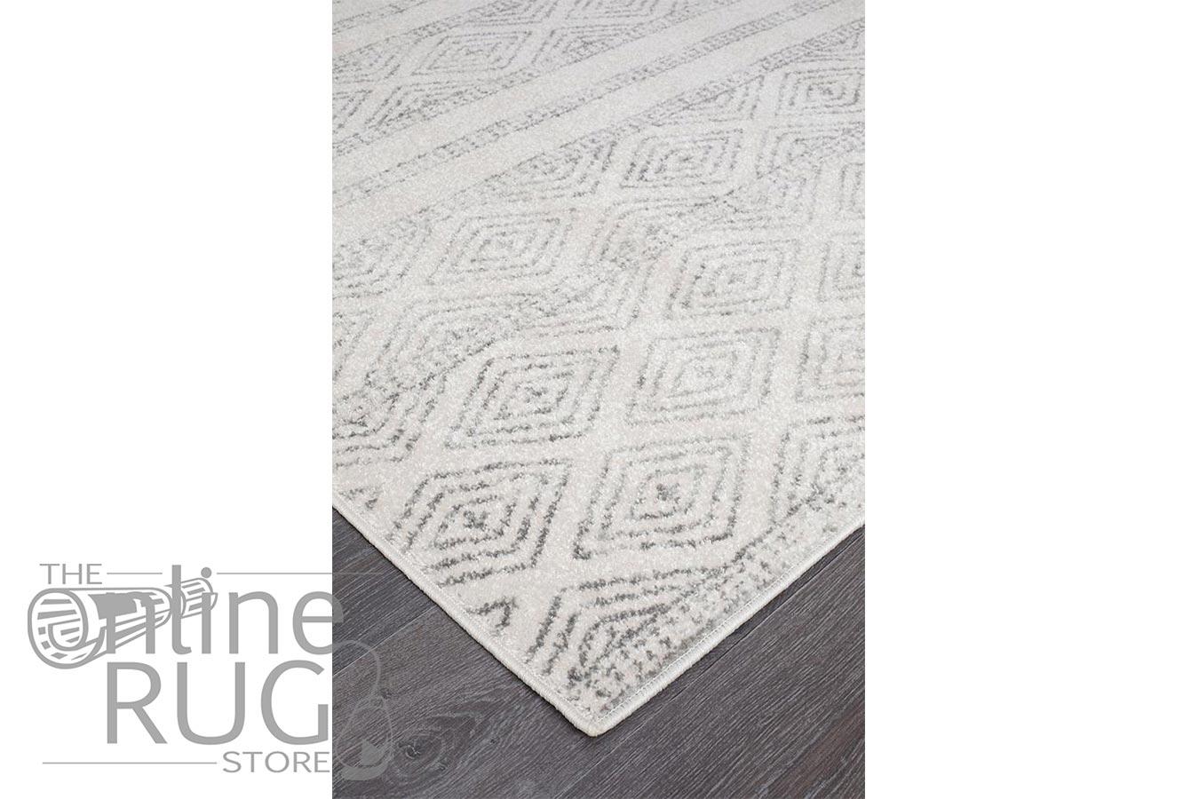 Heaven Grey Tribal Diamond Pattern Rug