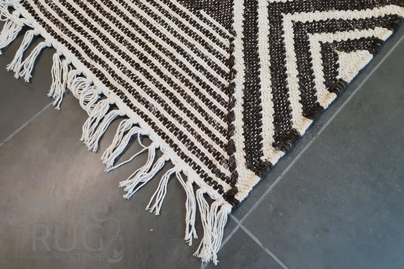Bohemian Brown Charcoal Diamond Rug