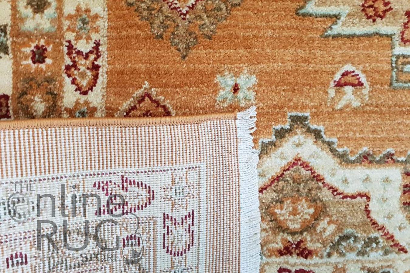 Mahala Gold Geometric Traditional Rug