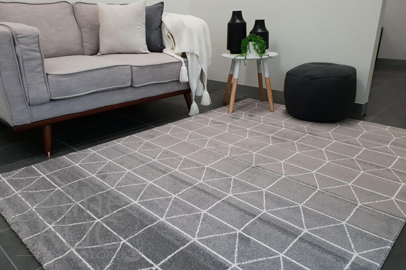 Sienna Grey Geometric Rug