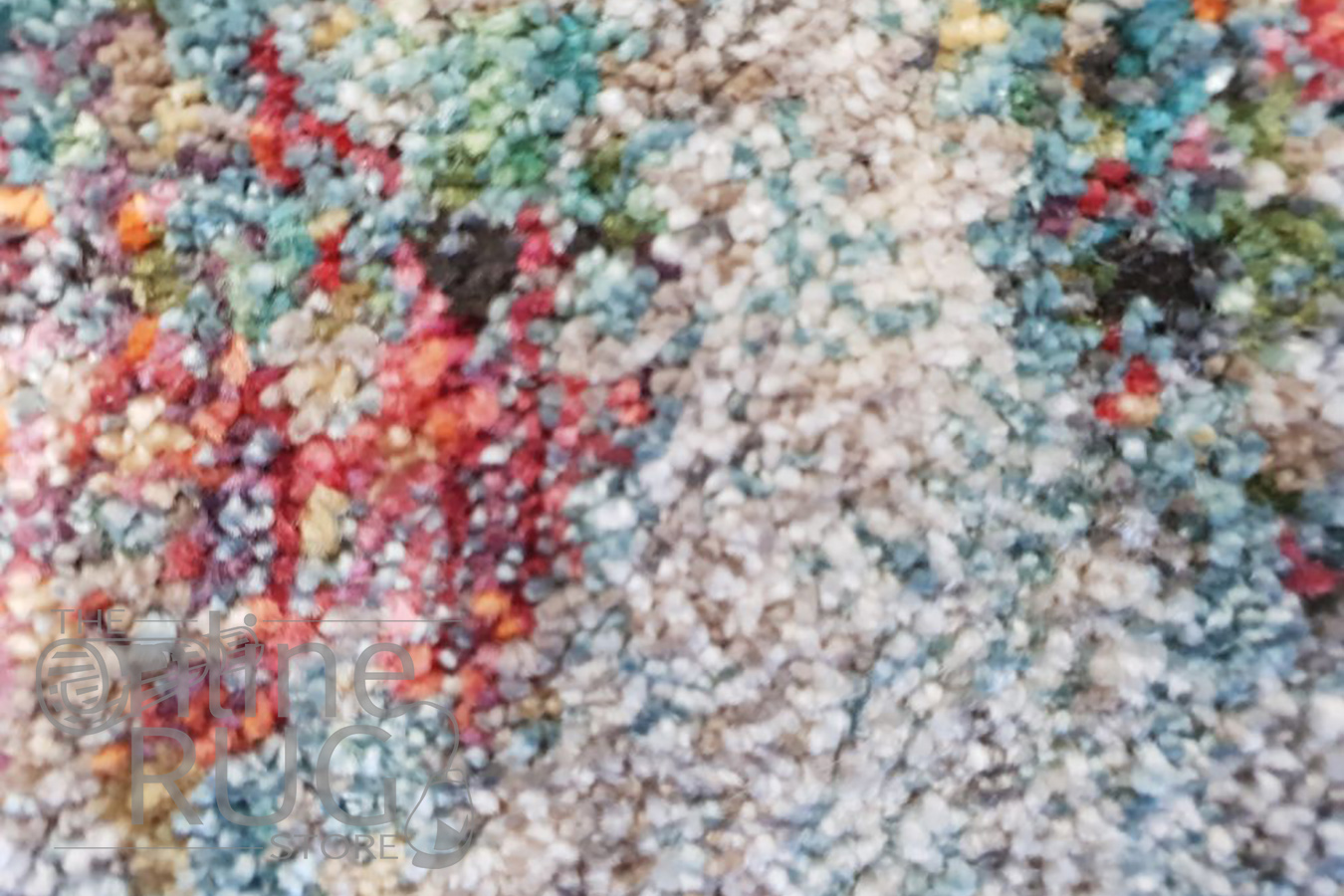 Bella Blue Grey Multicoloured Distressed Vintage Rug