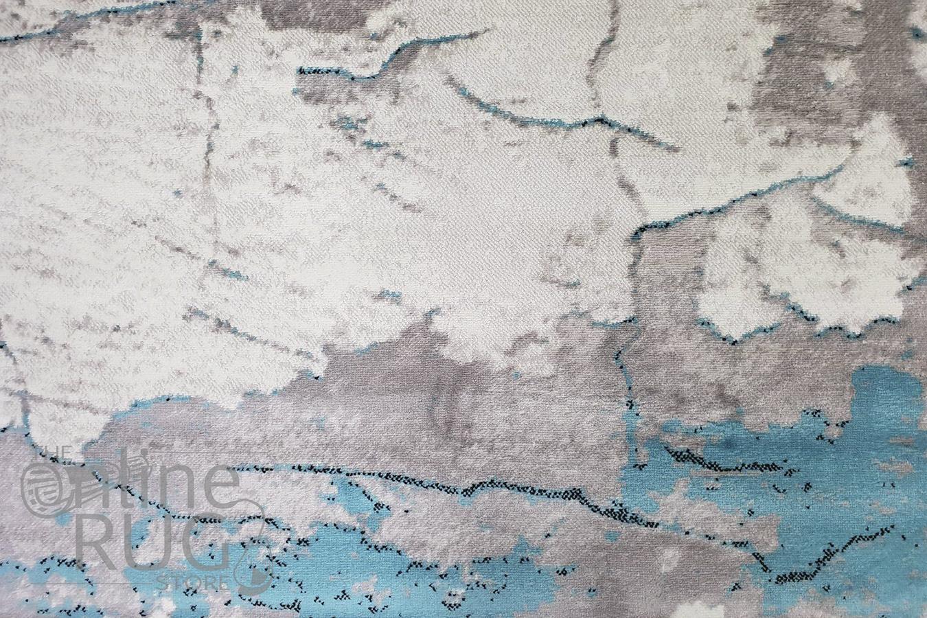 Skylar Blue Grey Art Rug
