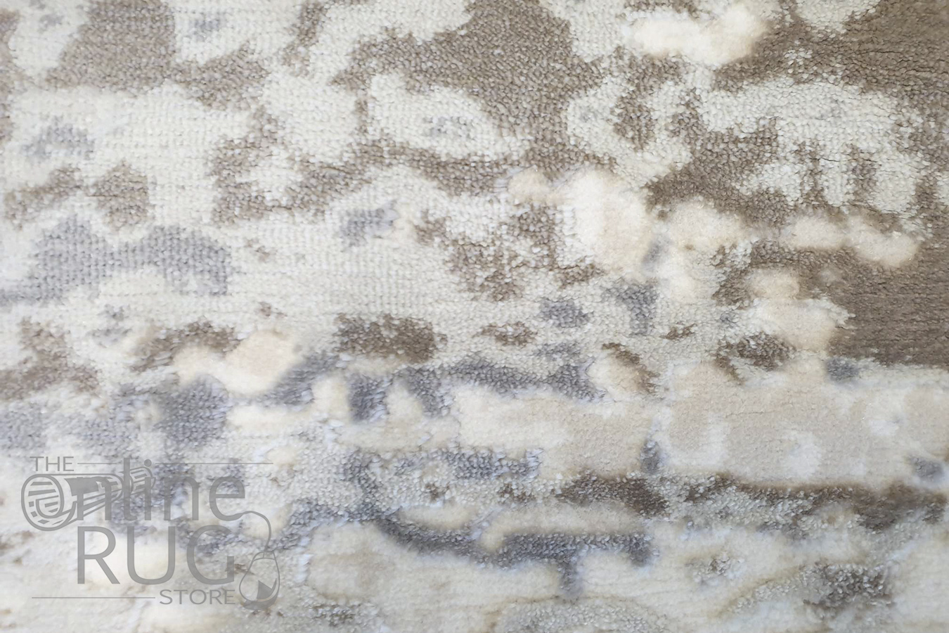 Opal Cream Abstract Power Loomed Rug