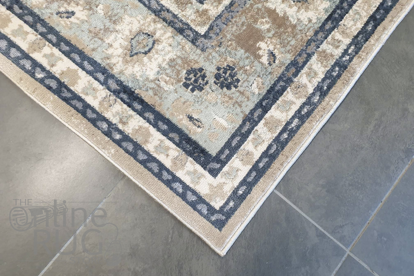 Grace Beige Oriental Faded Wash Transitional Rug
