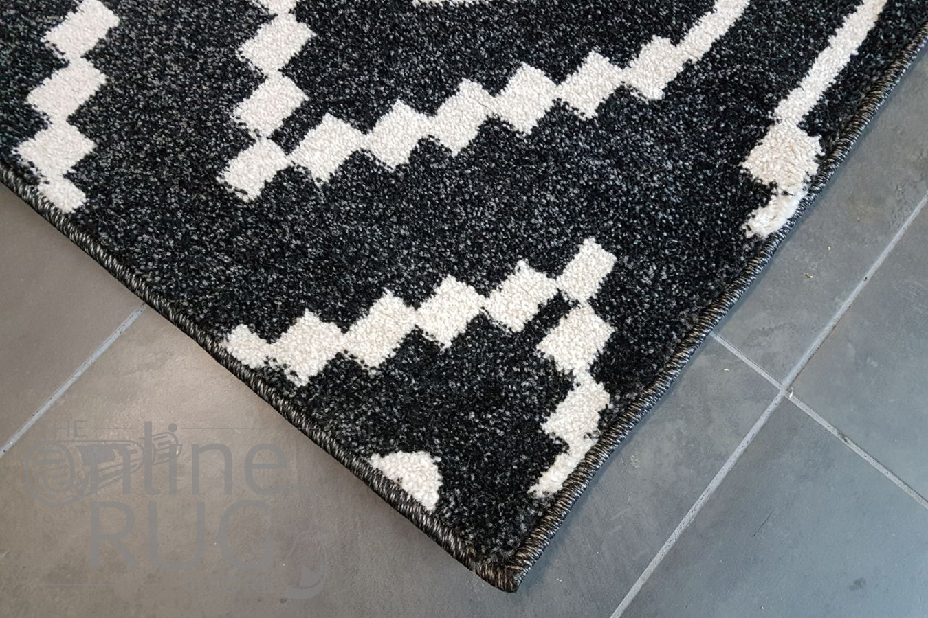Black White Geometric Diamond