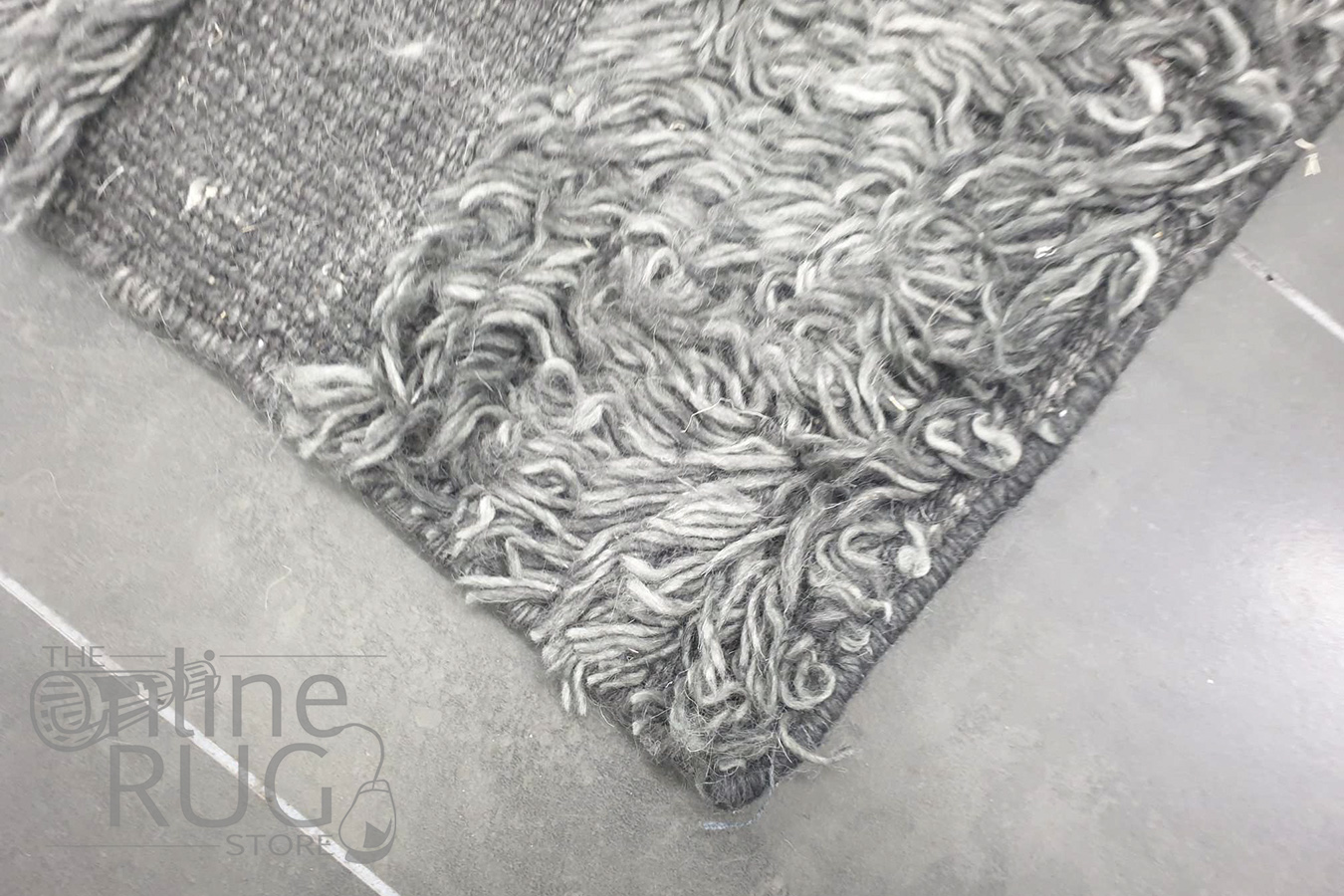 Boho Brown Grey Bohemian Wool Rug